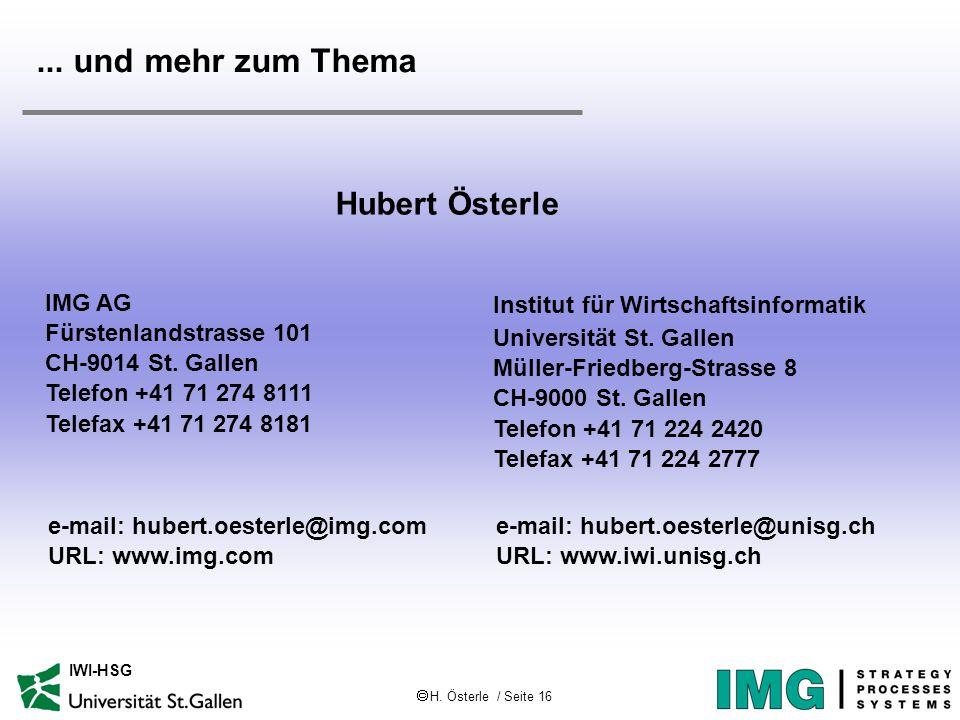  H. Österle / Seite 16 IWI-HSG...