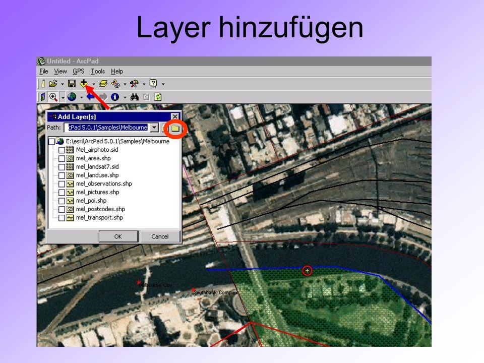 GIS II: ARCPADRamses Henin Layer hinzufügen