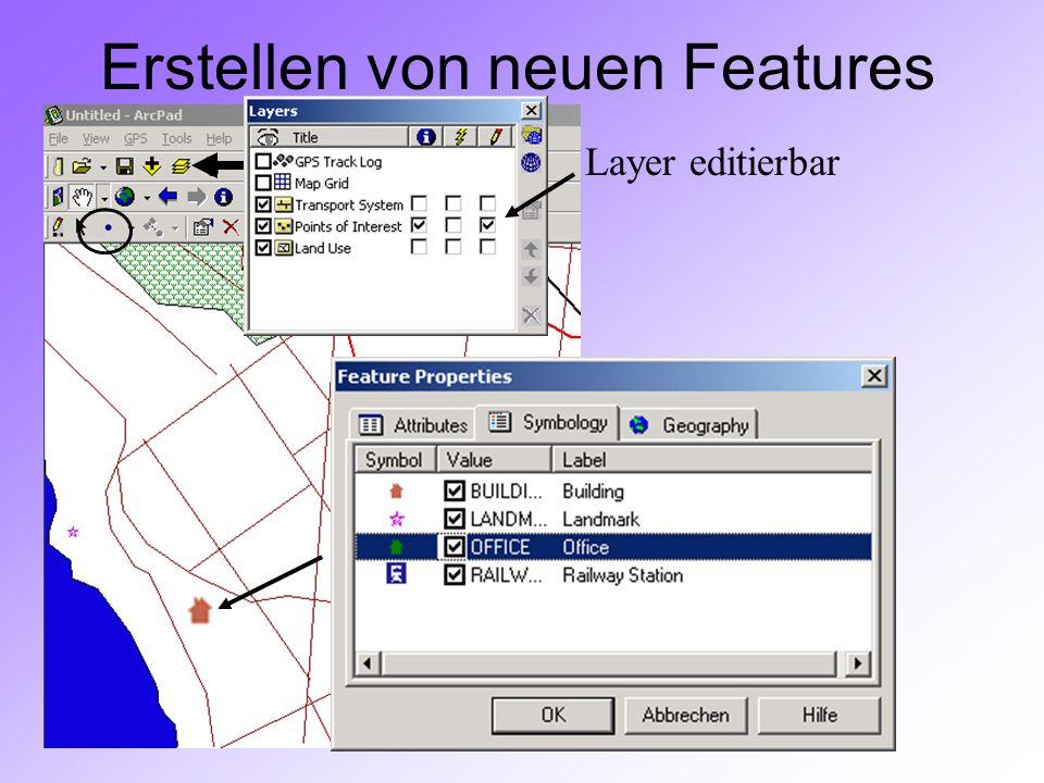 GIS II: ARCPADRamses Henin Erstellen von neuen Features Layer editierbar