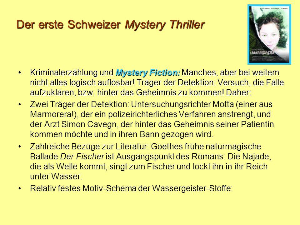 Der erste Schweizer Mystery Thriller Kriminalerzählung und Mystery Fiction: Manches, aber bei weitem nicht alles logisch auflösbar.