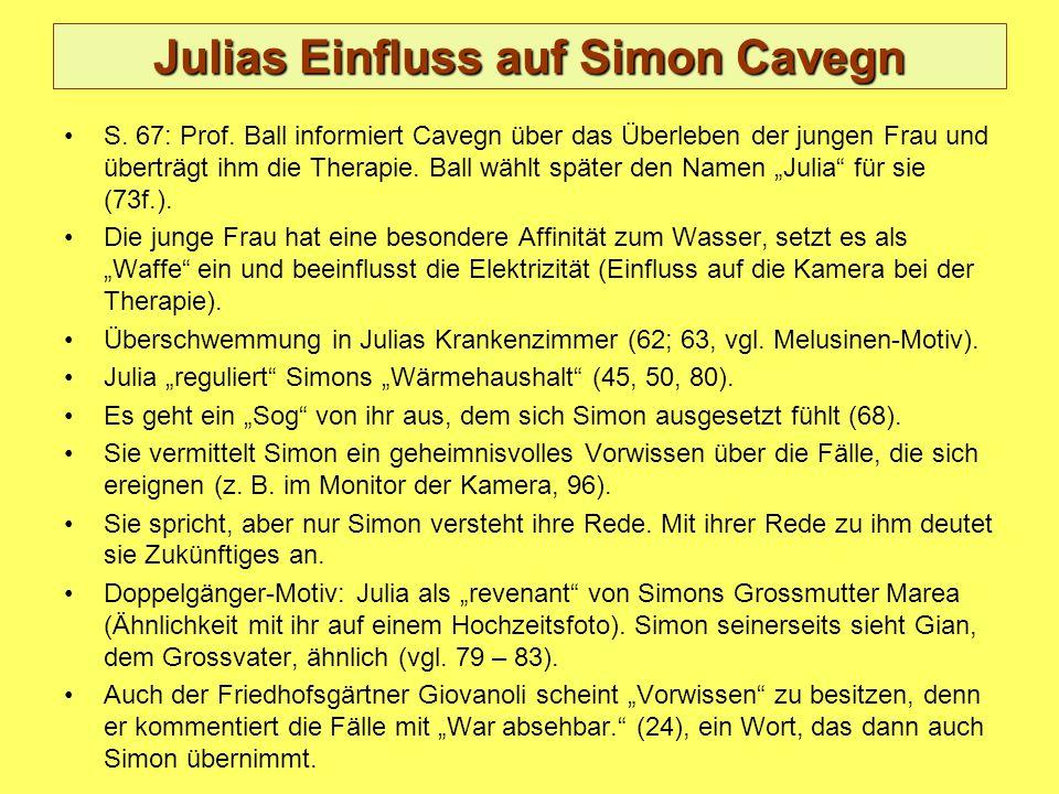 Julias Einfluss auf Simon Cavegn S. 67: Prof.