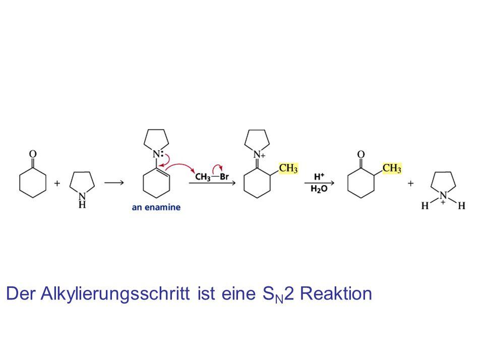 Der Alkylierungsschritt ist eine S N 2 Reaktion