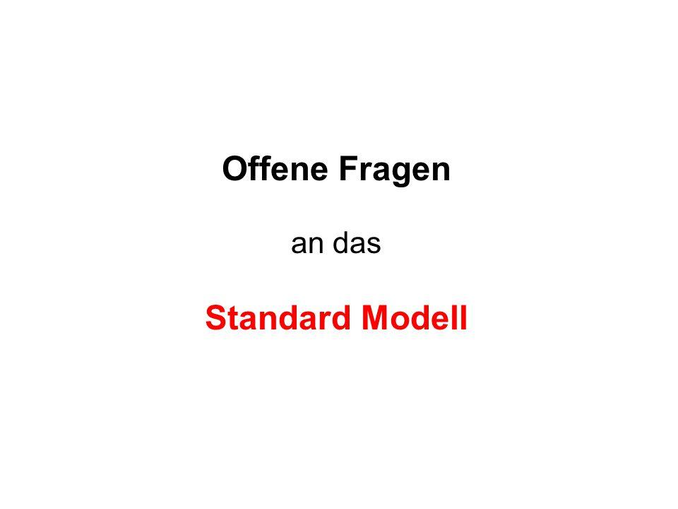 Offene Fragen an das Standard Modell