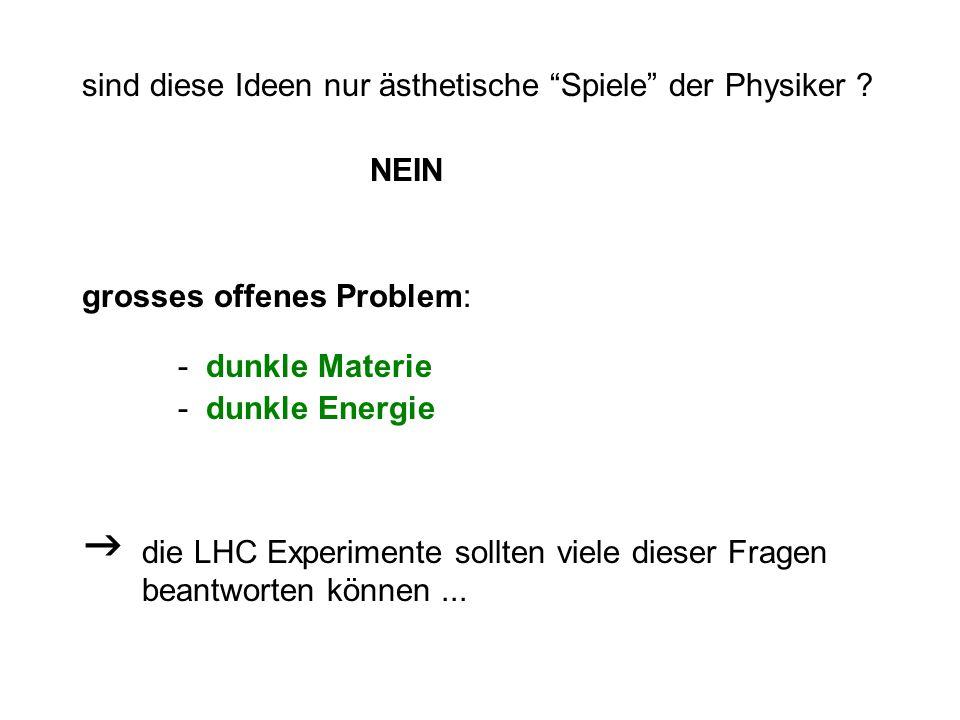 sind diese Ideen nur ästhetische Spiele der Physiker .