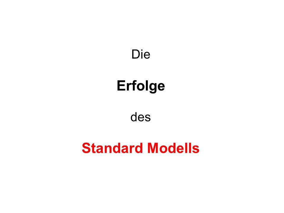 Die Erfolge des Standard Modells