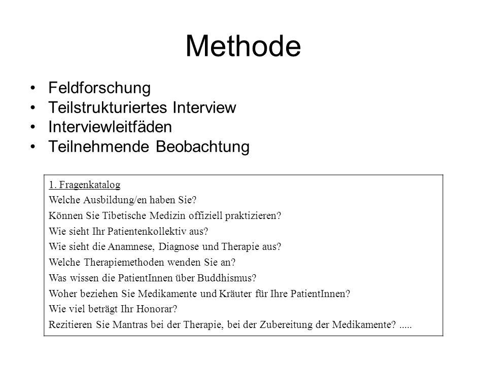 Methode Feldforschung Teilstrukturiertes Interview Interviewleitfäden Teilnehmende Beobachtung 1. Fragenkatalog Welche Ausbildung/en haben Sie? Können