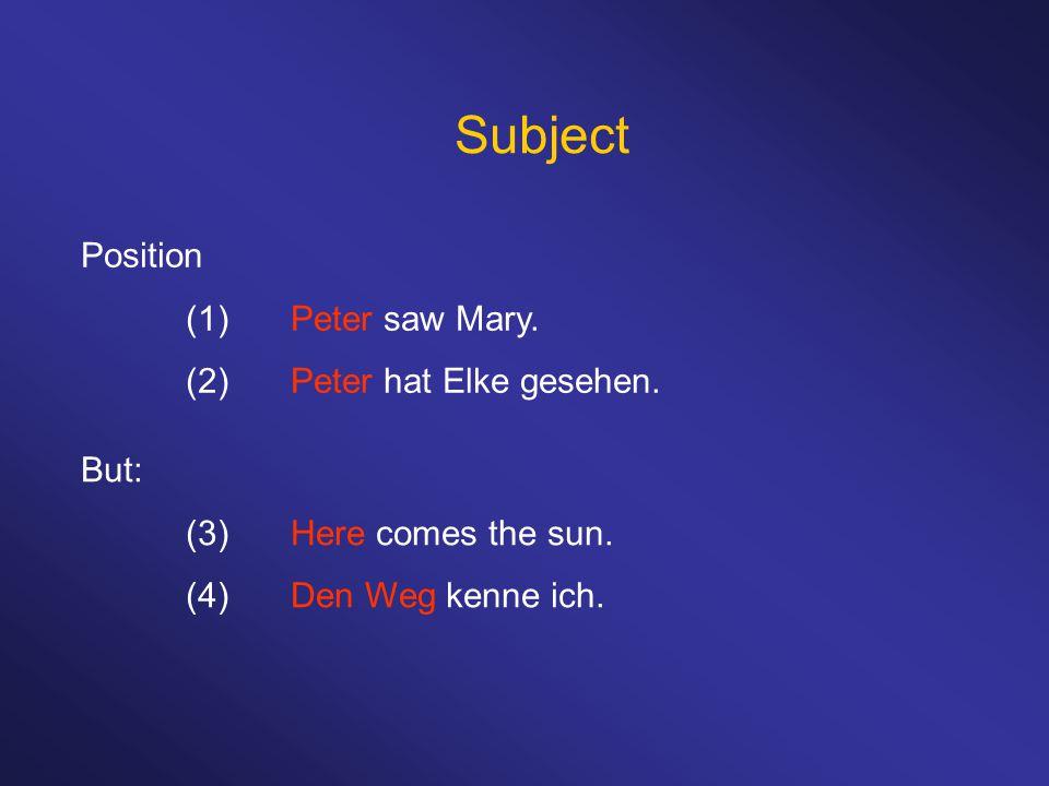 Dative case Dative in transitive sentences: (1)Peter hilft ihm.