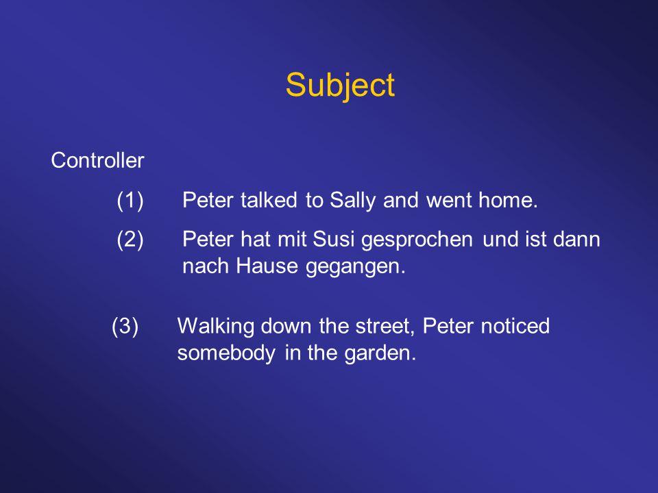 (1)Die Scheibe wird (von Peter) zerschlagen.(2)Die Scheibe wurde (von Peter) zerschlagen.