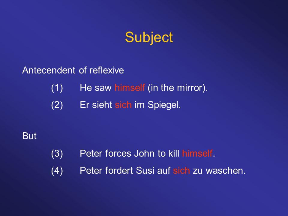 Prepositional object vs.