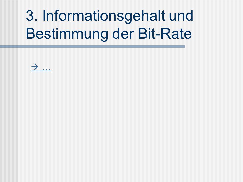 3. Informationsgehalt und Bestimmung der Bit-Rate ...