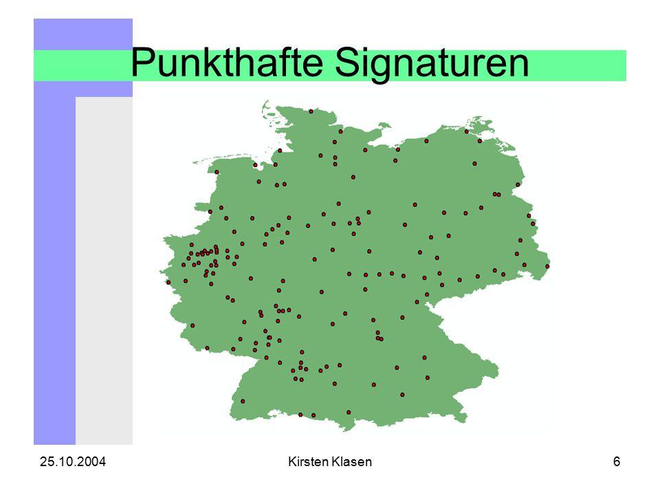 25.10.2004Kirsten Klasen6 Punkthafte Signaturen