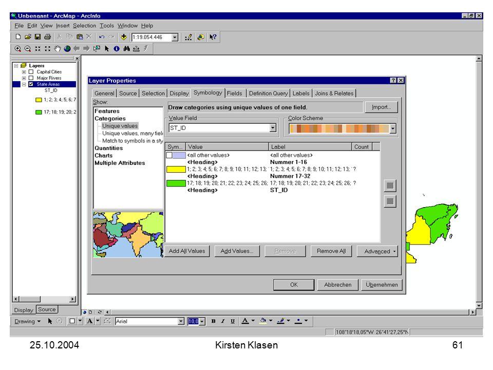 25.10.2004Kirsten Klasen61