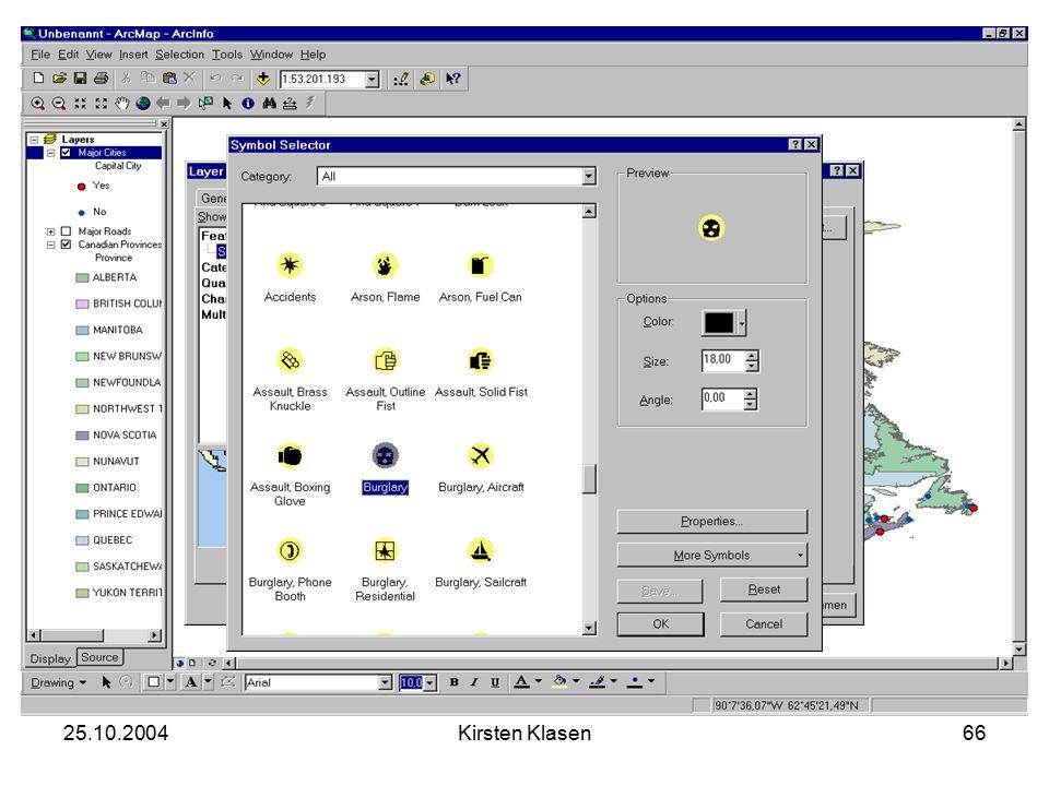 25.10.2004Kirsten Klasen66