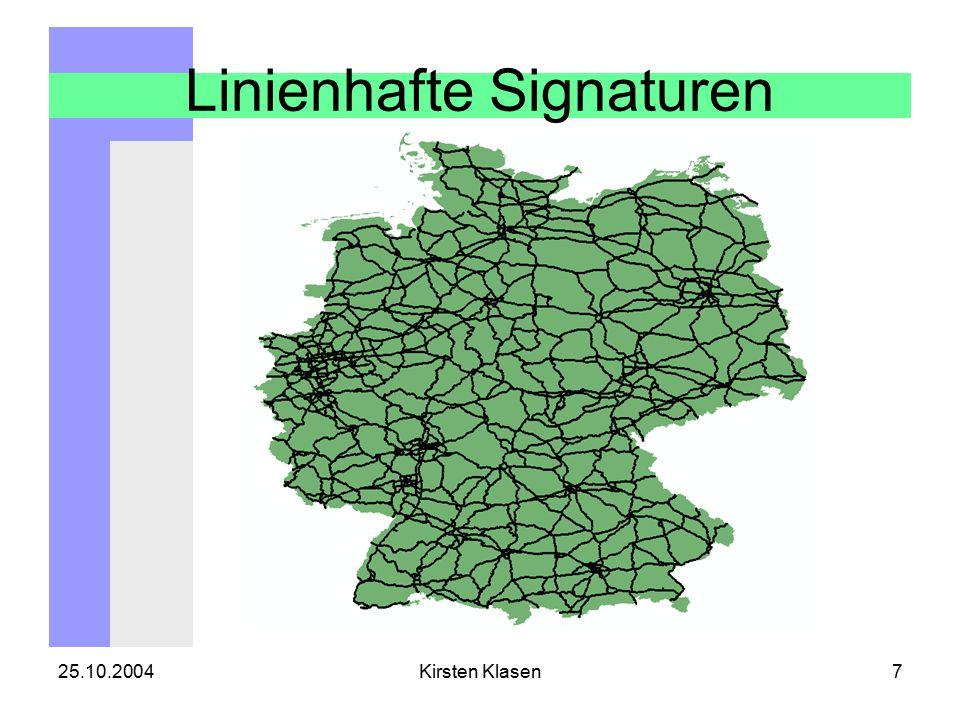 25.10.2004Kirsten Klasen8 Flächenhafte Signaturen