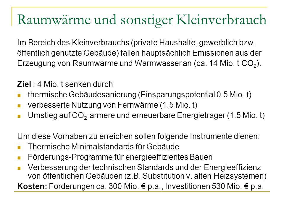 Österreich im internationalen Vergleich Bei den Gesamtausgaben für den Umweltschutz pro Kopf liegt Österreich im Spitzenfeld (500 € pro Kopf, vgl.