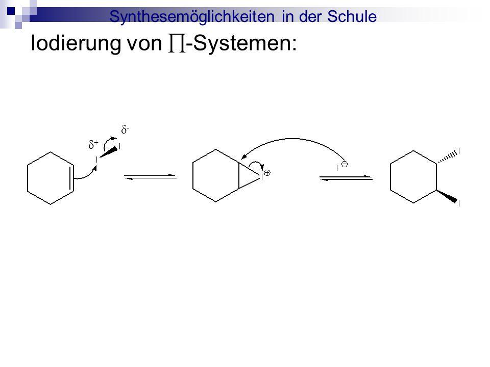 Synthesemöglichkeiten in der Schule Iodierung von ∏-Systemen: δ+δ+ δ-δ-