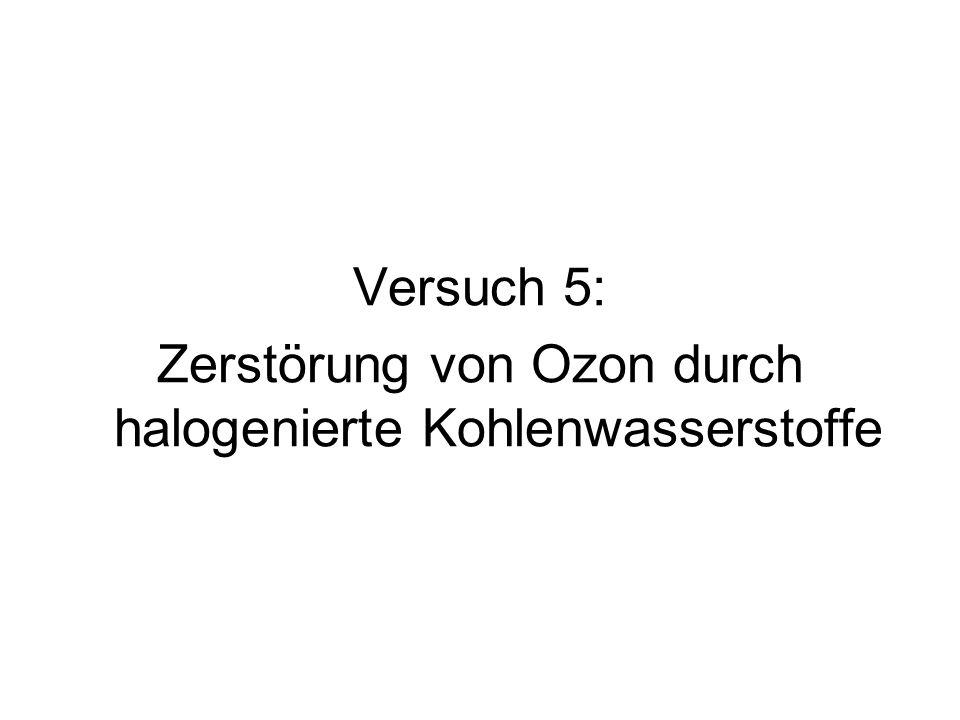 Versuch 5: Zerstörung von Ozon durch halogenierte Kohlenwasserstoffe