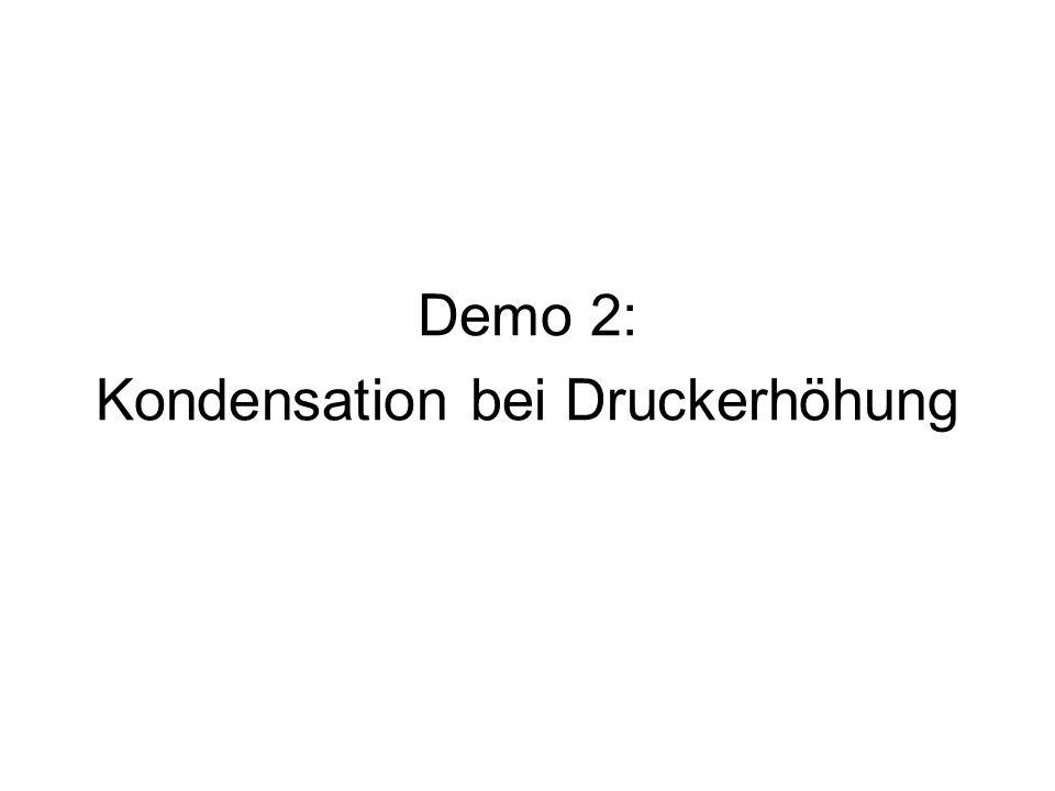 Demo 2: Kondensation bei Druckerhöhung
