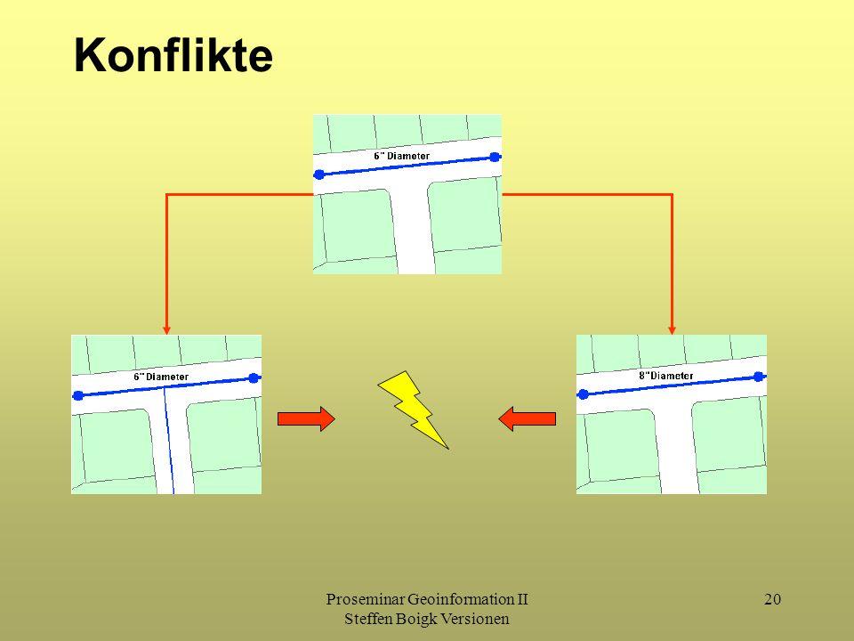 Proseminar Geoinformation II Steffen Boigk Versionen 20 Konflikte