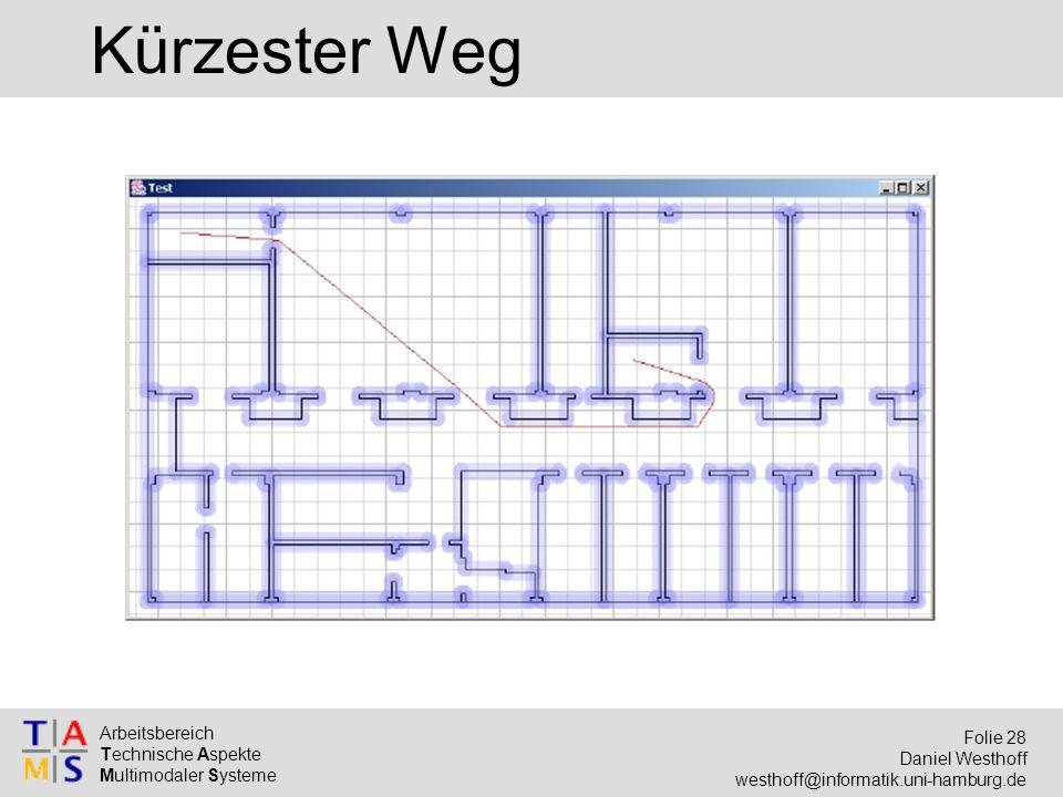 Arbeitsbereich Technische Aspekte Multimodaler Systeme Folie 28 Daniel Westhoff westhoff@informatik.uni-hamburg.de Kürzester Weg
