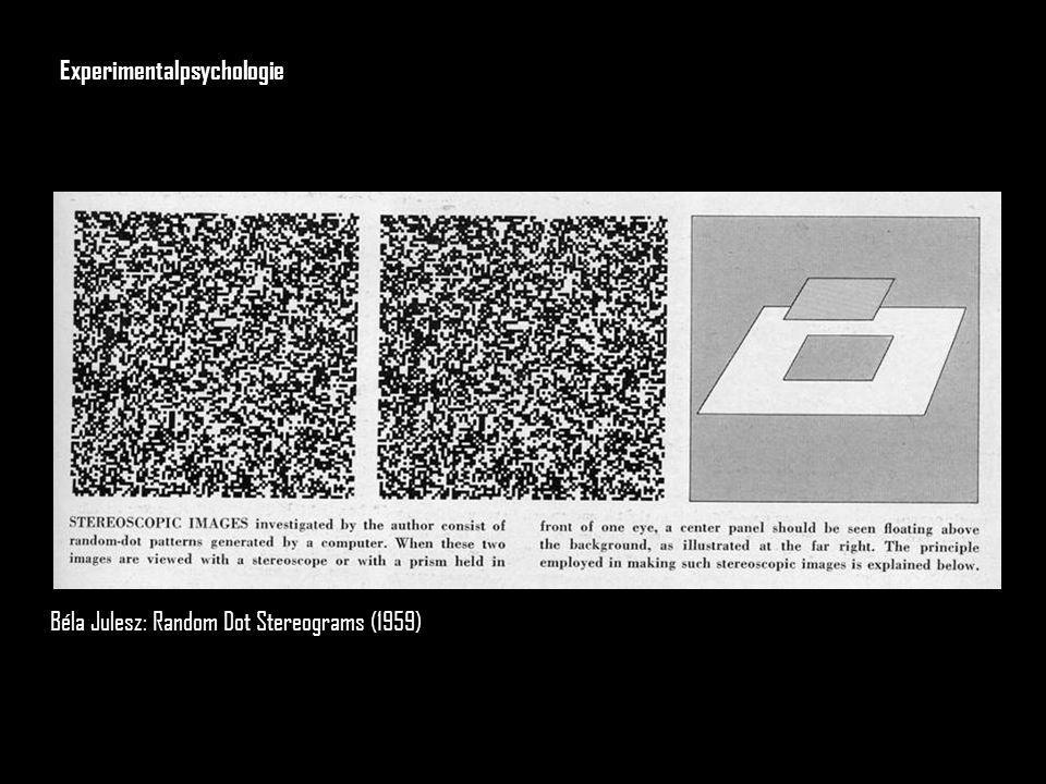 Béla Julesz: Random Dot Stereograms (1959) Experimentalpsychologie