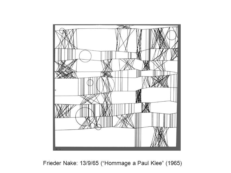 """Frieder Nake: 13/9/65 (""""Hommage a Paul Klee"""" (1965)"""