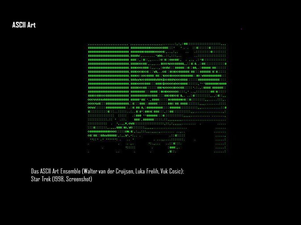 Das ASCII Art Ensemble (Walter van der Cruijsen, Luka Frelih, Vuk Cosic): Star Trek (1998, Screenshot) ASCII Art