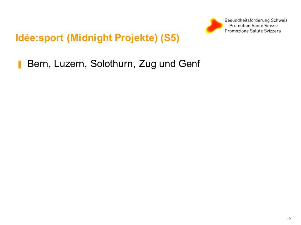 Idée:sport (Midnight Projekte) (S5) ▐ Bern, Luzern, Solothurn, Zug und Genf 10
