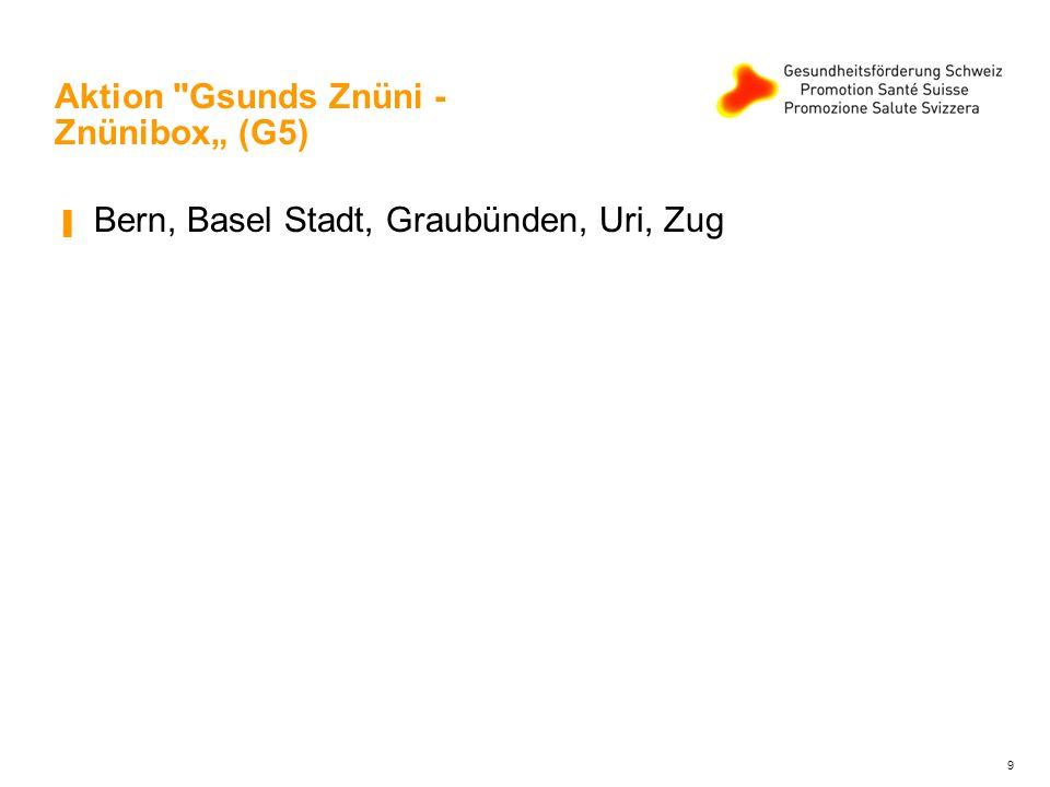 """Aktion Gsunds Znüni - Znünibox"""" (G5) ▐ Bern, Basel Stadt, Graubünden, Uri, Zug 9"""