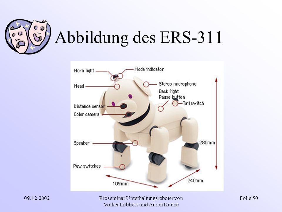 09.12.2002Proseminar Unterhaltungsroboter von Volker Lübbers und Aaron Kunde Folie 50 Abbildung des ERS-311