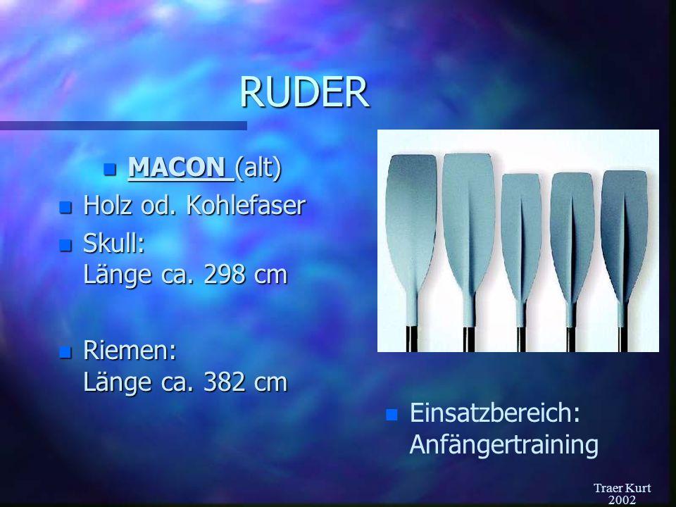 """Traer Kurt 2002 Ruder: Big Blade n """"Hackebeil n Ausschließlich aus Kohlefaser n Skull: Länge ca."""