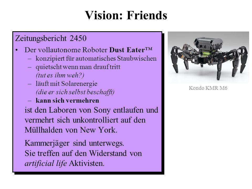 Vision: Friendly machines Werbung 2050 Sony proudly announces: The Turing Talker™ Bezieht Informationen selbständig aus Internet, Radio und Fernsehen.