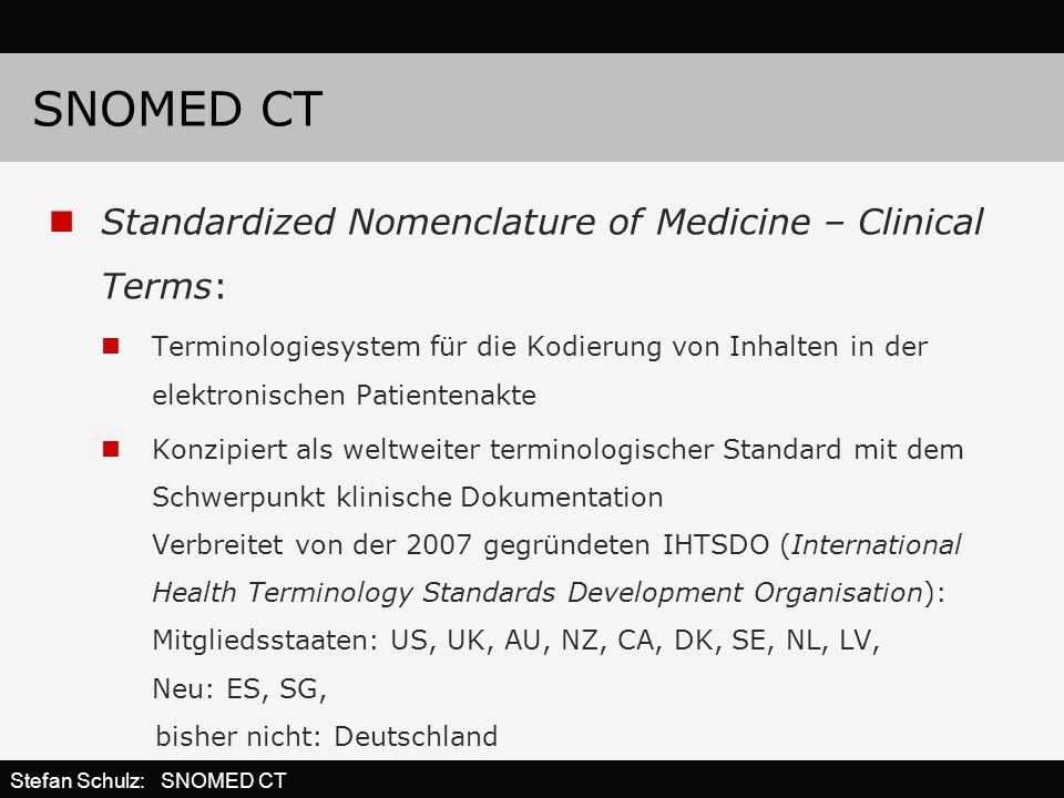 SNOMED CT Standardized Nomenclature of Medicine – Clinical Terms: Terminologiesystem für die Kodierung von Inhalten in der elektronischen Patientenakt