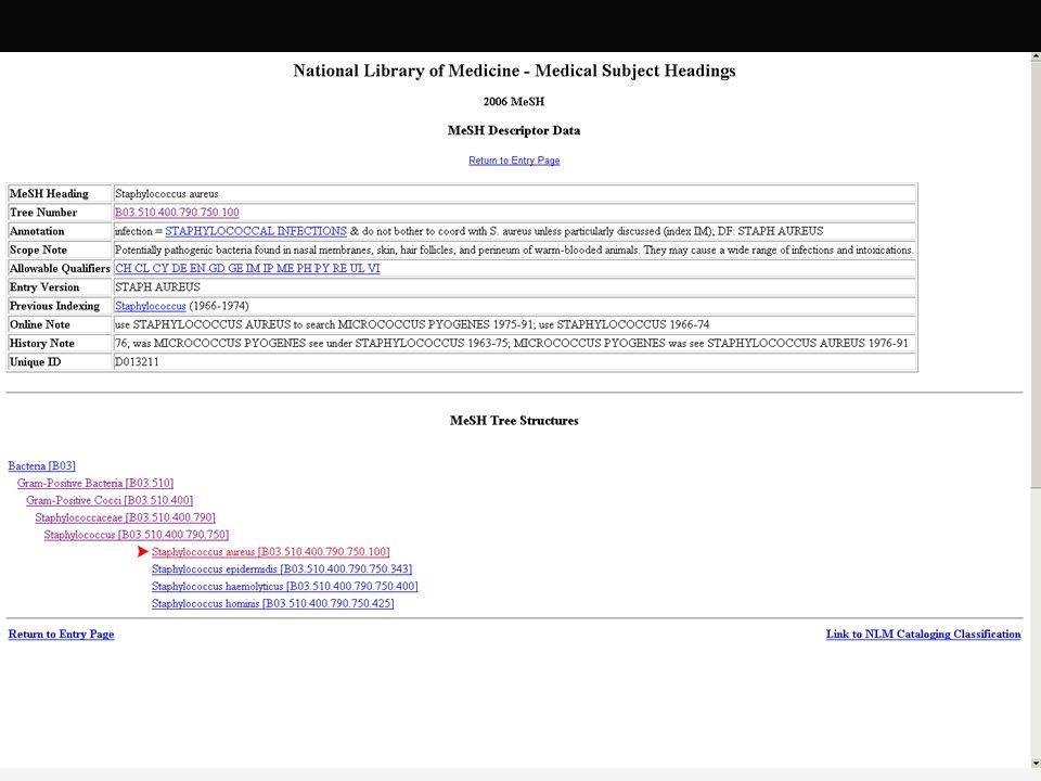 SNOMED: Werkzeuge und Quellen Browser CliniClue (www.cliniclue.com) SNOB (snob.eggbird.eu/) Online: (snomed.vetmed.vt.edu/sct/menu.cfm) Quellen Clue-Dateien (proprietär) Textfiles (über UMLS) experimentelle Nutzung ohne kommerziellen Hintergrund in D möglich