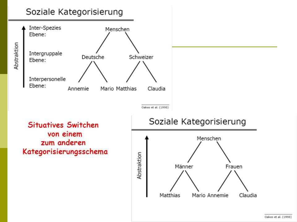 Situatives Switchen von einem zum anderen Kategorisierungsschema