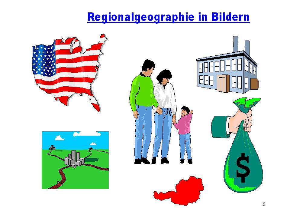 7 Zur Notwendigkeit regionalgeographischer Ansätze Es gibt zahlreiche einleuchtende und schlüssige Gründe, warum die Allgemeine Geographie inhaltliche