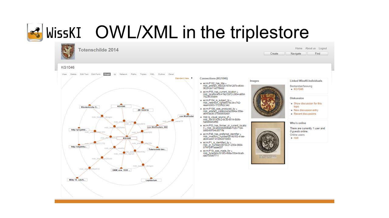 OWL/XML in the triplestore