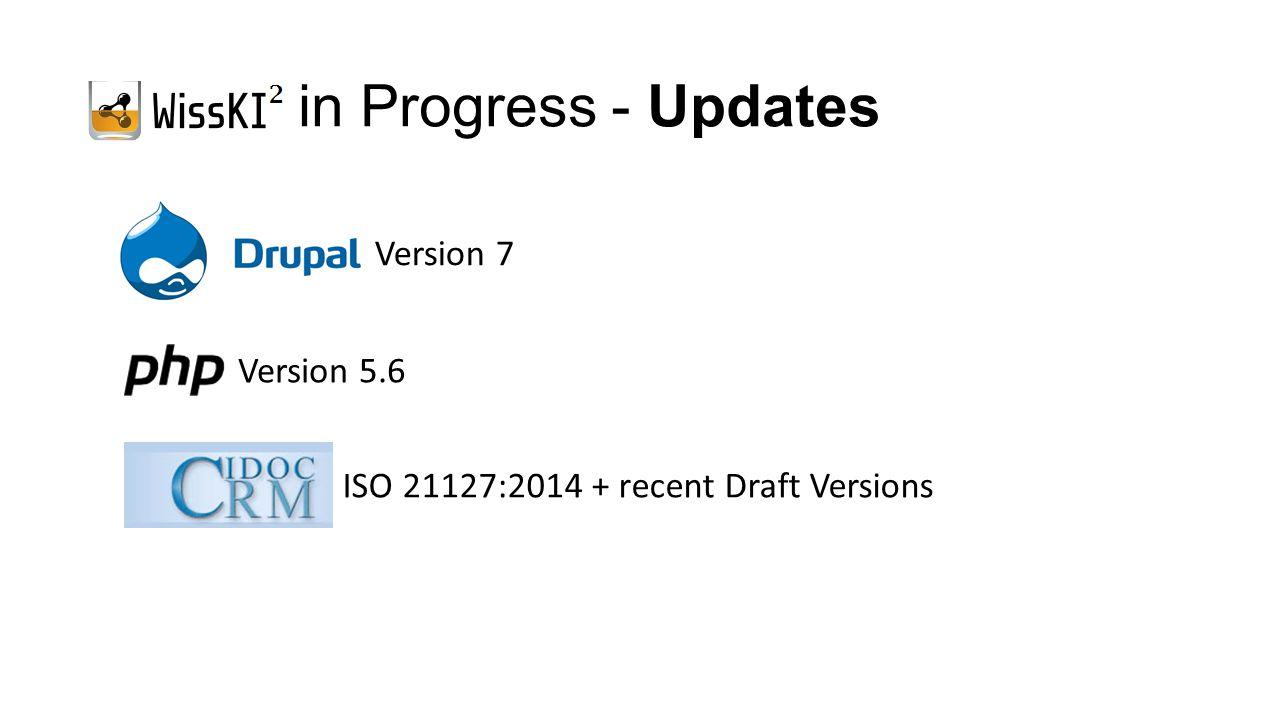 in Progress - Updates ISO 21127:2014 + recent Draft Versions Version 5.6 Version 7