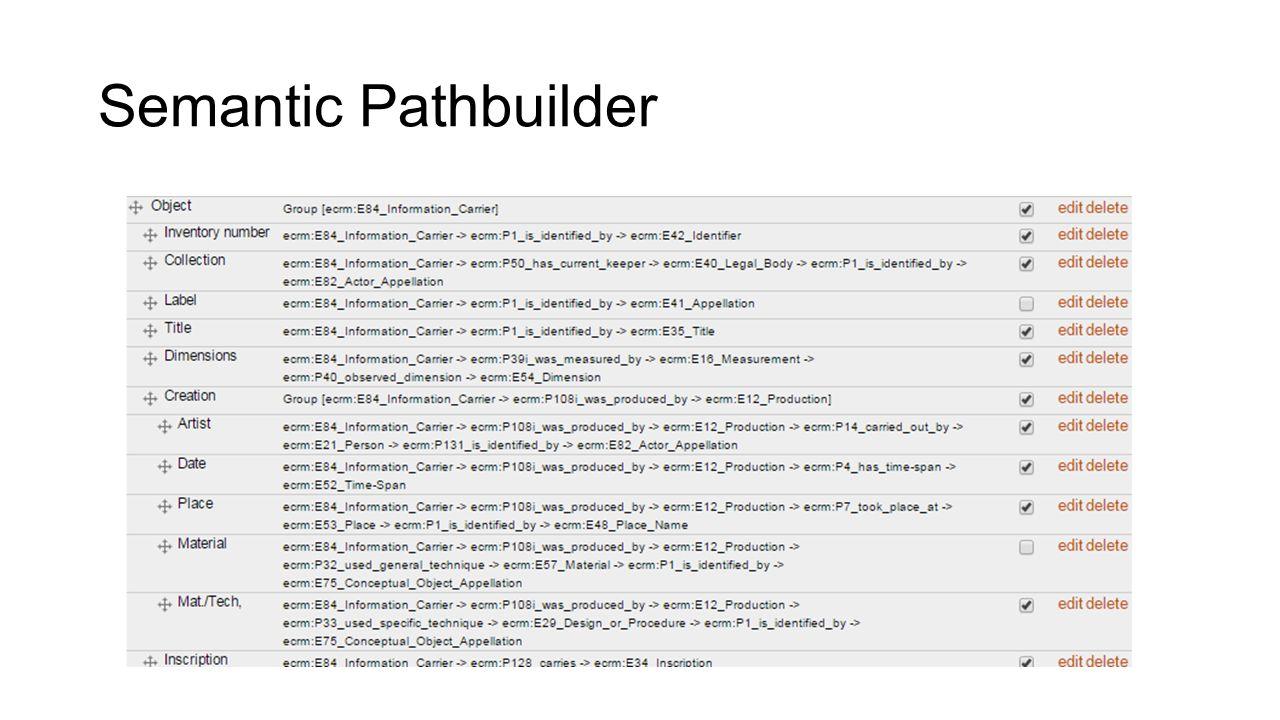 Semantic Pathbuilder