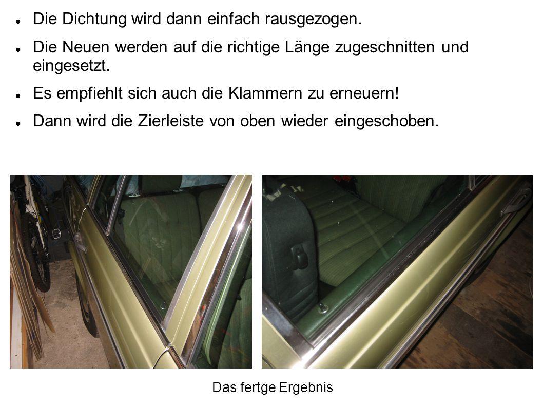 Fensterschachtabdichtungen vorne.
