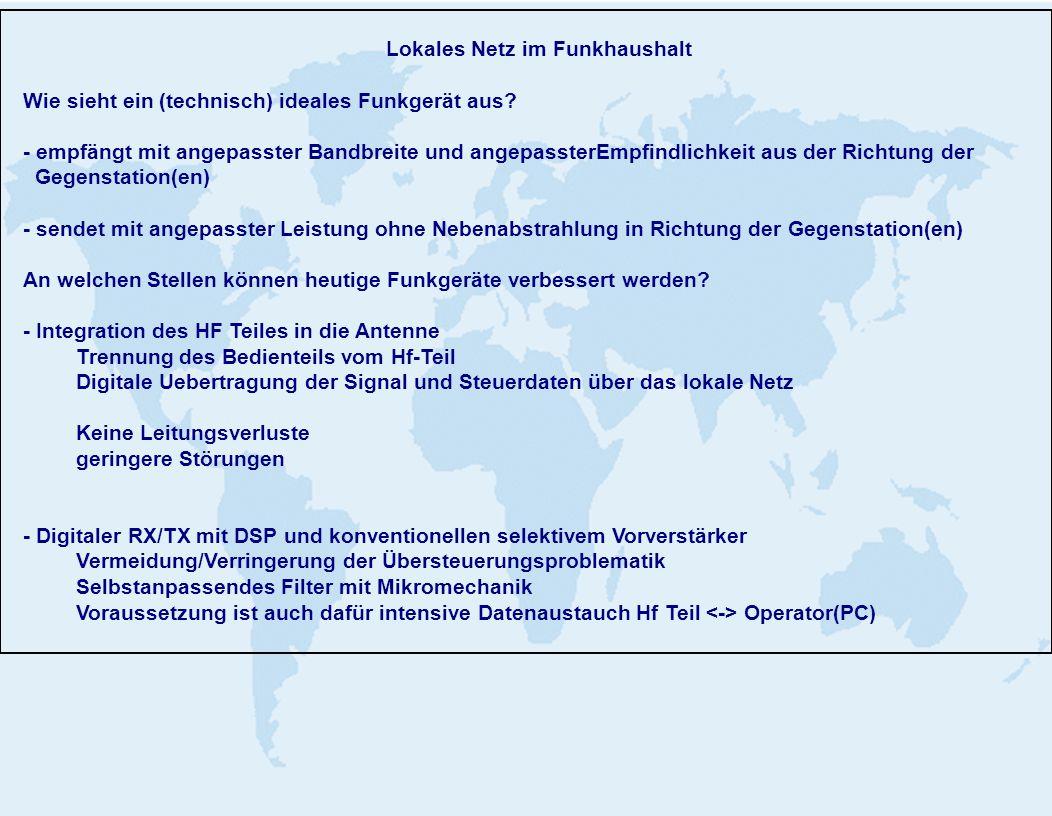 Lokales Netz im Funkhaushalt Wie sieht ein (technisch) ideales Funkgerät aus.