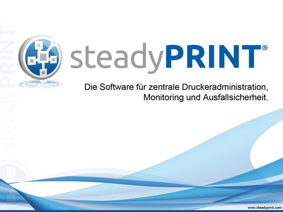 Standort 1 Standort B User steadyPRINT Agent Drucker A Drucker B Drucker C Standard- Drucker X User steadyPRINT Agent Drucker D Drucker E Drucker F Standard- Drucker Y