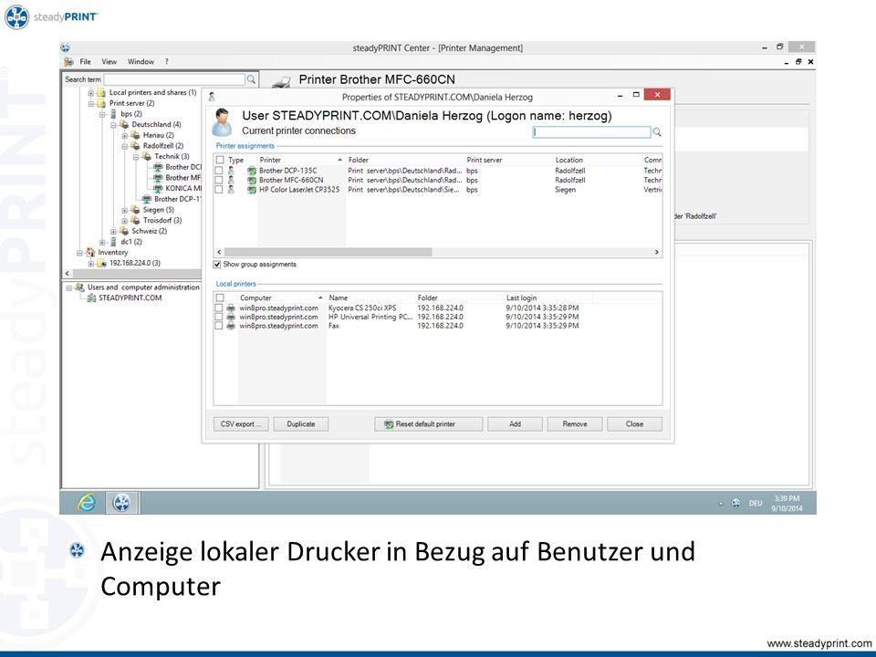 Anzeige lokaler Drucker in Bezug auf Benutzer und Computer Sp-center-007