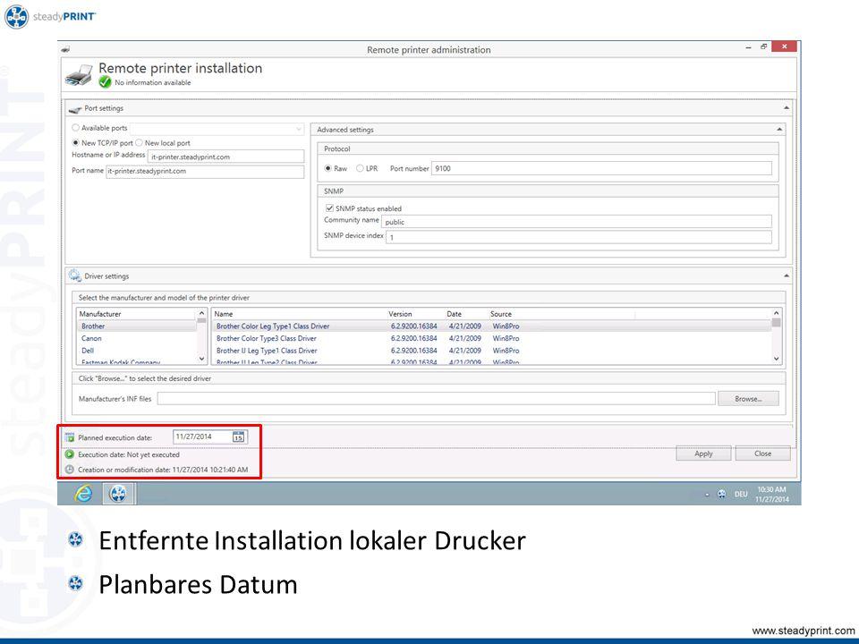 Entfernte Installation lokaler Drucker Planbares Datum Sp-center-067