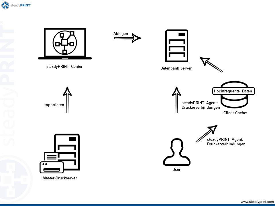 steadyPRINT-Roadmap steadyPRINTER Kostenanalyse mit Kostenstellen Komprimierung Treiberloses Drucken Druckstromverschlüsselung Herstellerspezifische SNMP-Abfragen Neue GUI
