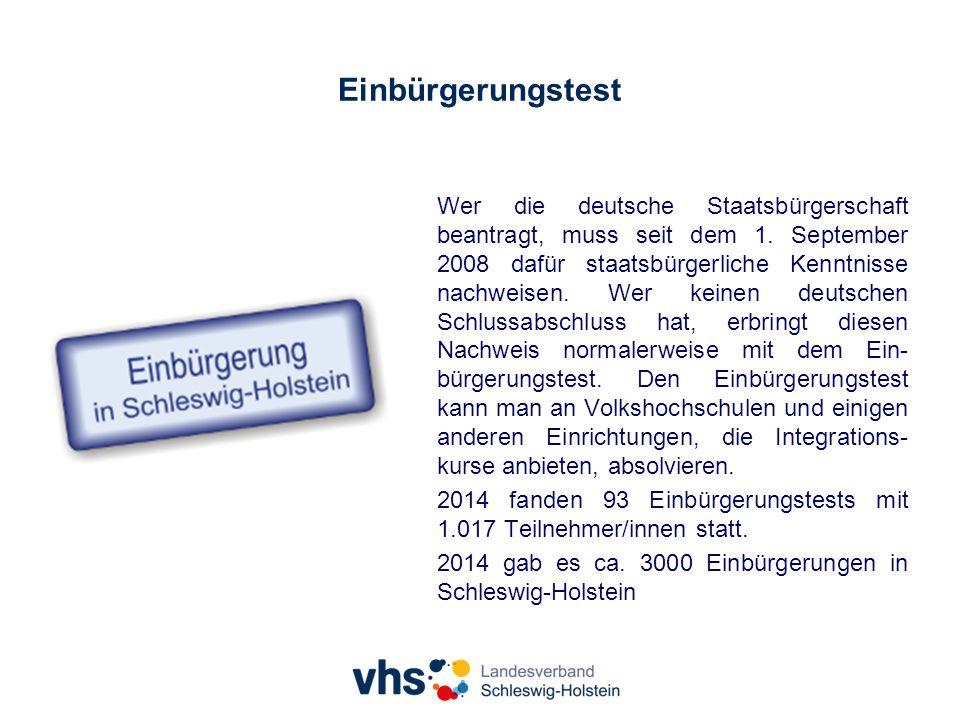 Einbürgerungstest Wer die deutsche Staatsbürgerschaft beantragt, muss seit dem 1.