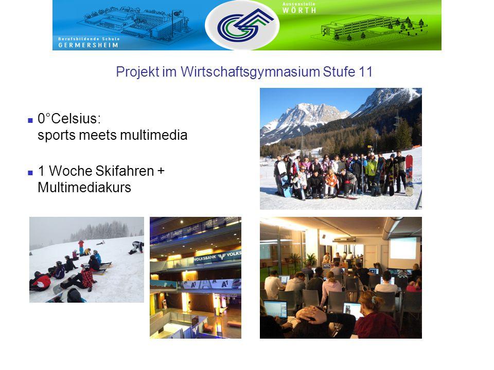 Projekt im Wirtschaftsgymnasium Stufe 11 0°Celsius: sports meets multimedia 1 Woche Skifahren + Multimediakurs