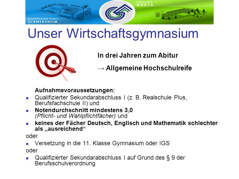 Berufsbildende Schule Germersheim Vielen Dank für Ihre Aufmerksamkeit !