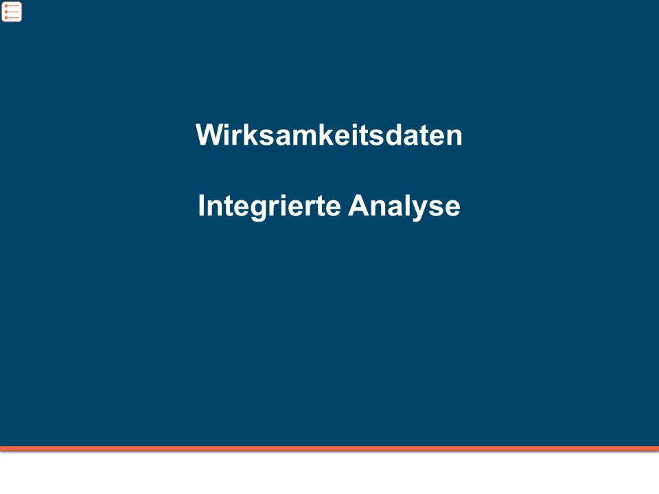 Wirksamkeitsdaten Integrierte Analyse