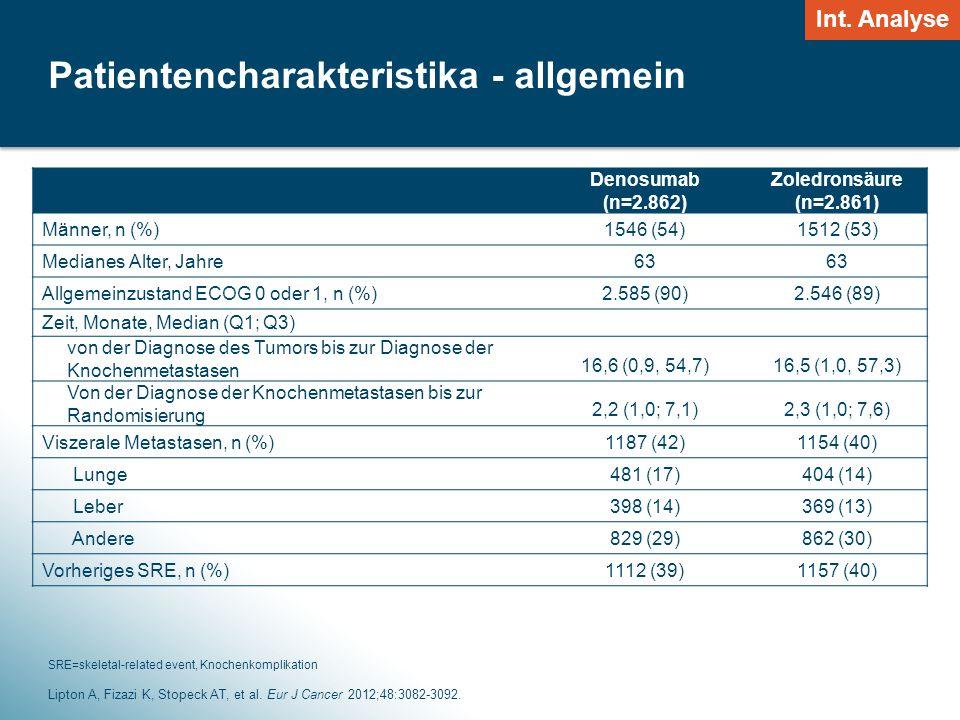 6 Patientencharakteristika - allgemein Lipton A, Fizazi K, Stopeck AT, et al.